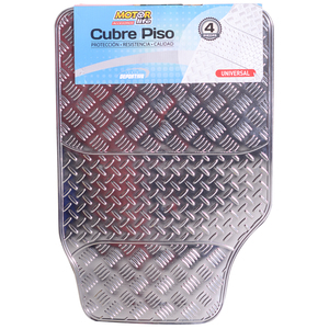 Set 4 Cubre Pisos Sport Color Aluminio MotorLife