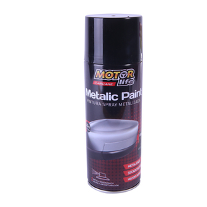 Pintura Spray Negro Metalizado 400ML. MotorLife