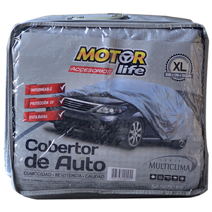 Cubre Autos 100% Impermeable Talla XL MotorLife