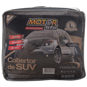 Cubre Autos SUV 100% Impermeable Talla L MotorLife
