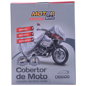 Cubre Moto Impermeable Talla S MotorLife