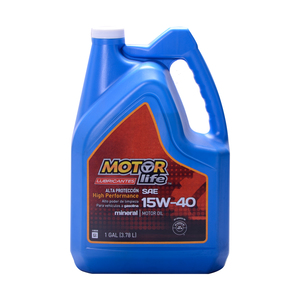 Aceite MotorLife 15W40 Mineral 1 GAL.
