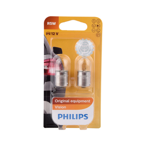 Ampolleta Vision R5W de 12V Base BA15S Philips
