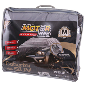 Cubre Autos SUV 100% Impermeable Talla M MotorLife
