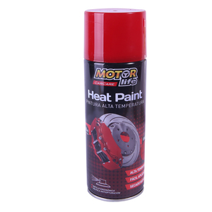 Pintura Spray Alta Temperatura Rojo 400ML. MotorLife