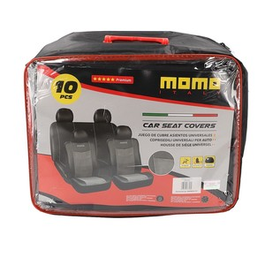 Set de Fundas MOMO de Asiento Color Negro-Gris