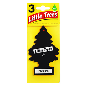 Aromatizante Papel Aroma Black Ice Set de 3 Little Trees