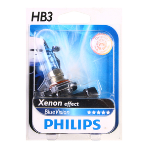 Ampolleta Blue Vision HB3/9005 de 12V y 60W Base P20D Philips