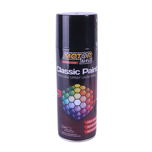 Pintura Spray Negro 400ML. MotorLife