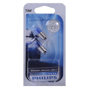 Ampolleta Blue Vision T4W de 12V y 4W Base BA9S Philips